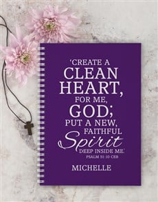 gifts: Personalised Clean Heart Easter Notebook!