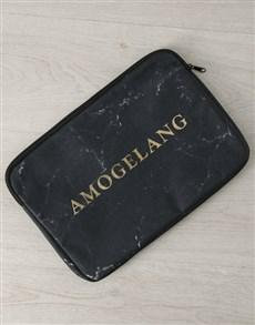 gifts: Personalised Marbleised Laptop Sleeve!
