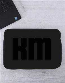 gifts: Personalised Monogram Laptop Sleeve!