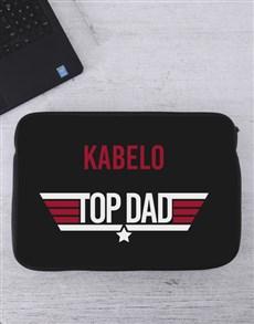 gifts: Personalised Top Dad Laptop Sleeve!