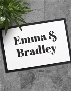 gifts: Personalised Our Names Doormat!