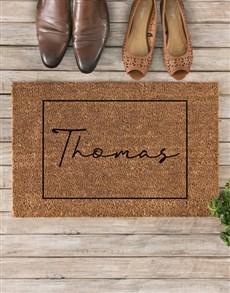 gifts: Personalised Cursive Name Doormat!