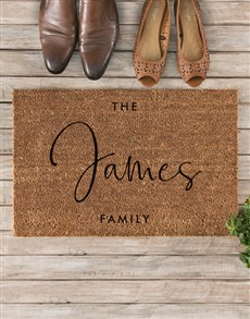 gifts: Personalised Our Family Doormat!