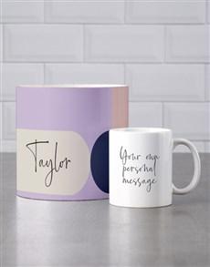 gifts: Personalised Modernist Mug Tube!