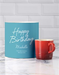 gifts: Personalised Birthday Le Creuset Mug Tube!
