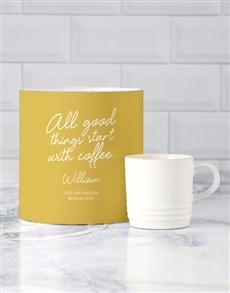 gifts: Personalised Good Things Le Creuset Mug Tube!