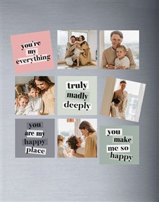 gifts: Personalised Minty Set Of Magnets!