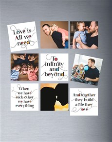 gifts: Personalised Love Theme Magnets!