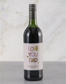gifts: Personalised Love You Dad Red Wine!