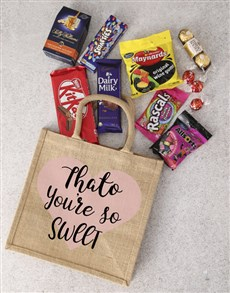 gifts: Personalised Treat Hessian Bag!