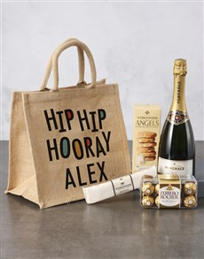 gifts: Personalised Birthday Hessian Bag!