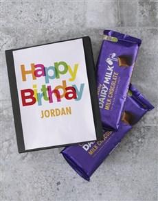 gifts: Personalised Birthday Cadbury Slab!
