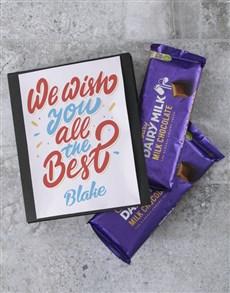 gifts: Personalised Farewell Cadbury Card!