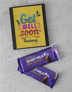gifts: Personalised Get Well Cadbury Card!