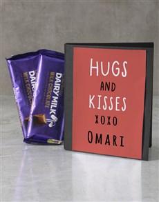 gifts: Personalised Hugs Cadbury Card!