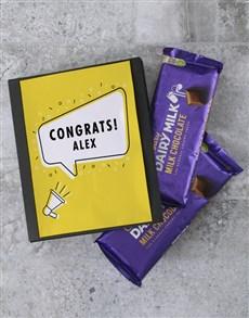 gifts: Personalised Congrats Cadbury Card!