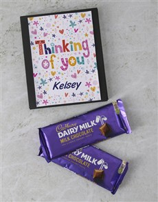 gifts: Personalised Thinking Of You Cadbury Card!
