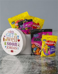 gifts: Personalised Get Well Sweet Hatbox!