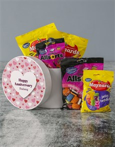 gifts: Personalised Anniversary Sweets Hatbox!