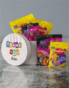 gifts: Personalised Thank You Sweet Hatbox!