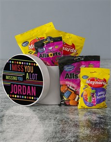 gifts: Personalised Miss Them Sweet Hatbox!