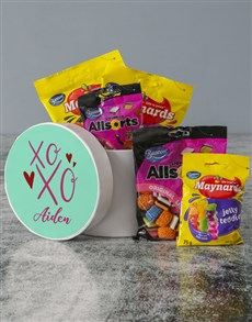 gifts: Personalised Hugs And Kisses Sweet Hatbox!