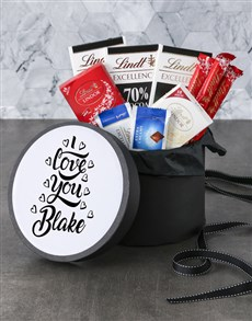 gifts: Personalised I Love You Lindt Hat Box!