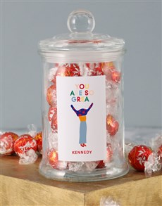 gifts: Personalised You Are Great Lindt Jar!