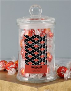gifts: Personalised Afro Centric Lindt Jar!