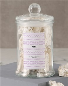 gifts: Personalised Patterned Nougat Jar!
