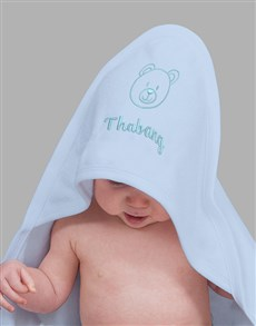 gifts: Personalised Blue Hooded Towel Gift!