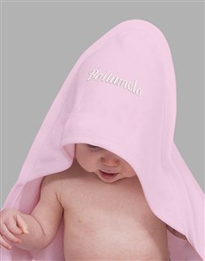 gifts: Personalised Embroidered Pink Towel Gift!