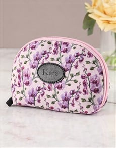 gifts: Personalised Orchid Opulence Cosmetic Bag !