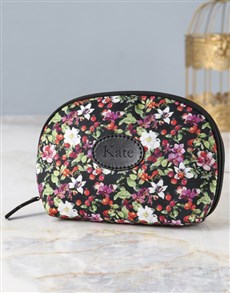 gifts: Personalised Floral Fantasy Cosmetic Bag!