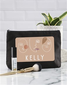 gifts: Personalised Abstract Faces Cosmetic Bag!