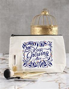 gifts: Personalised Keep Growing Cosmetic Bag!