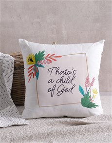 gifts: Personalised Child Of God Cushion!
