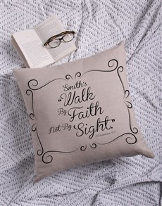 gifts: Personalised Walk By Faith Scatter Cushion!