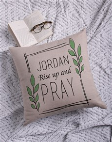 gifts: Personalised Rise Up Cushion!