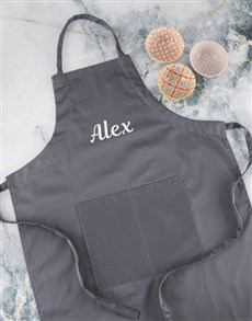 gifts: Personalised Grey Apron Gift Set!