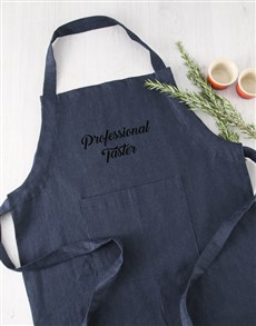 gifts: Personalised Message Denim Apron Gift!