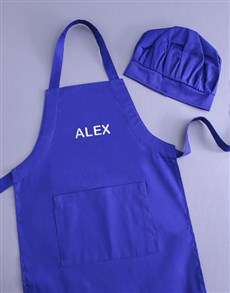 gifts: Personalised Kids Blue Apron!
