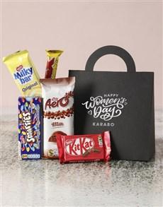 gifts: Personalised Happy Womens Day Choc Handbag!