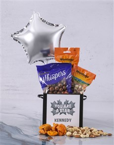 gifts: Personalised Youre A Star Balloon Hamper!
