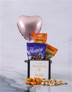 gifts: Personalised Anniversary Balloon Hamper!