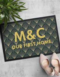 gifts: Personalised Initials First Home Doormat!