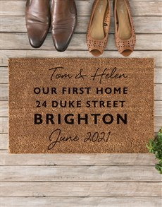 gifts: Personalised First Home Address Doormat!
