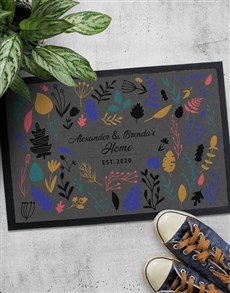 gifts: Personalised Floral Names Doormat!
