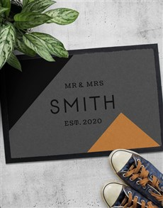 gifts: Personalised Abstract Mr And Mrs Doormat!