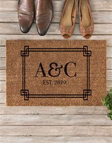 gifts: Personalised Our Initials Doormat!